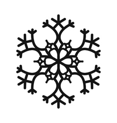 Snowflake simple icon vector