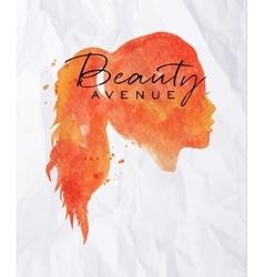 Poster Face orange vector image