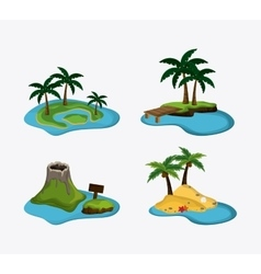 Beach design summer icon colorful vector