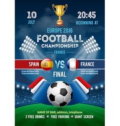 Football poster france vector