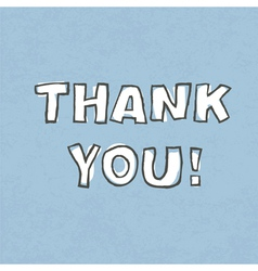 thank you word vector image