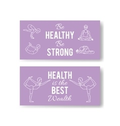 Yoga poses banners asana vector