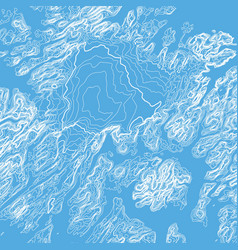Abstract blue earth relief map vector