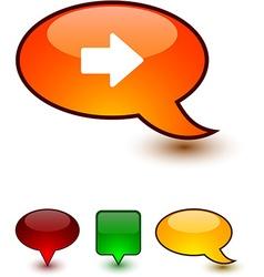 Arrow speech comic icons vector