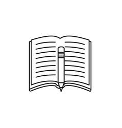 book open symbol vector image vector image