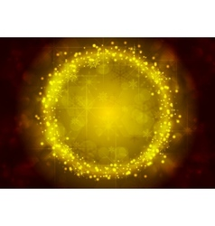 Bright yellow christmas sparkling background vector
