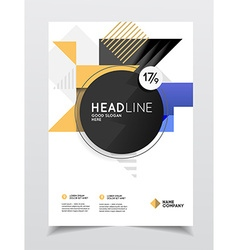 business brochure design Flyer with headline vector image