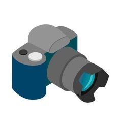 Camera icon isometric 3d style vector image