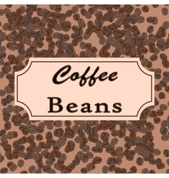 coffee beans Coffee design for shop or vector image vector image