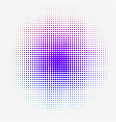colorful halftone dotted gradation vector image vector image