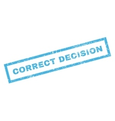 Correct decision rubber stamp vector