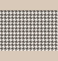 crows foot pattern from pixels vector image vector image