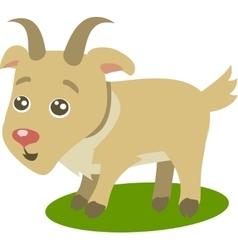 Cute Goat Cartoon vector image vector image