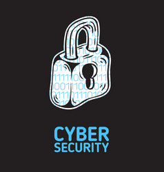 Cyber security safety conceptual poster design vector