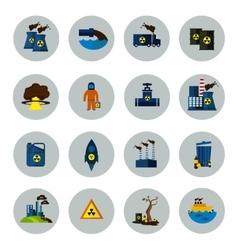 Environmental pollution colored icon set vector