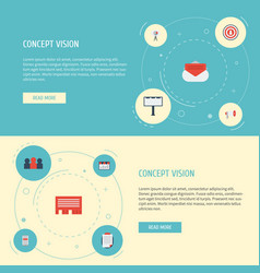 Flat icons customer summary letter monitoring vector