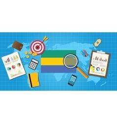 Gabon africa economy economic condition country vector