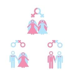 Gay marriage vector