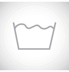 Grey wash icon vector
