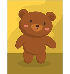 Grizzly brown bear cartoon vector