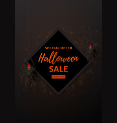 Halloween sale design poster vector