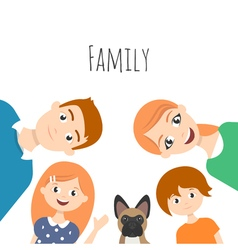 happy family mom dad son daughter vector image vector image