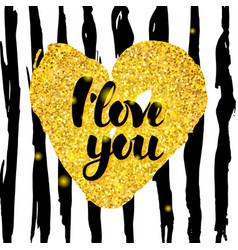 i love you handwritten design vector image