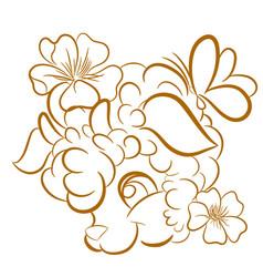 image of a sheep head design vector image vector image