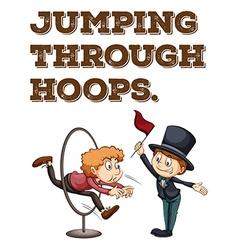 Jump through hoops concept vector
