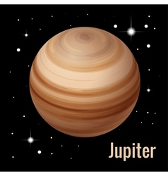 Jupiter planet 3d High vector image
