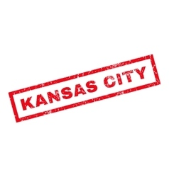 Kansas city rubber stamp vector