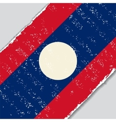 Laos grunge flag vector