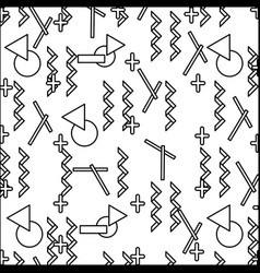 Line geometric figures abstract memphis style vector