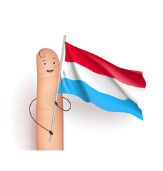 Luxembourg flag waving vector