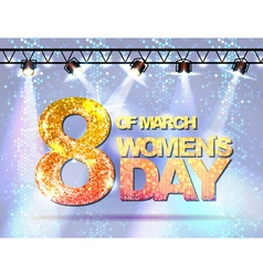 March 8 greeting card background for womans day vector