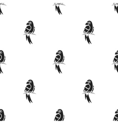 Parrot icon in black style isolated on white vector