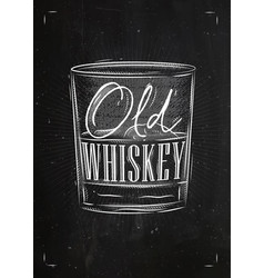 Poster old whiskey vector