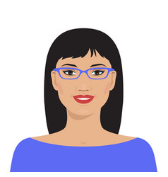 Pretty asian woman vector