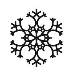 Snowflake simple icon vector image vector image
