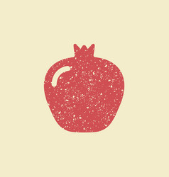 stylized flat icon of a pomegranate vector image vector image