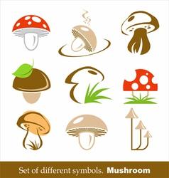 Symbols mushroom vector