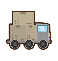 Truck delivery transport concept vector
