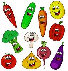 vegetable cartoon character vector image
