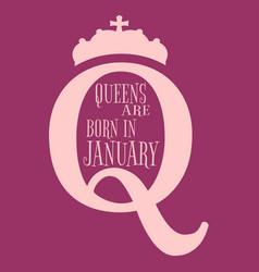 Vintage queen symbol motivation quote vector
