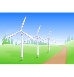 Wind power industry windmill energy generator vector