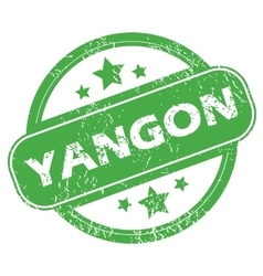 Yangon green stamp vector
