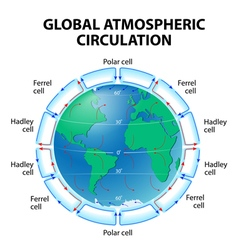 Atmosphere global circulation vector