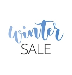 Winter sale hand written inscription vector