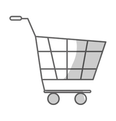 Supermarket cart icon vector