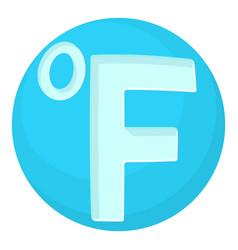 Fahrenheit icon cartoon style vector